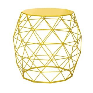 Shop for Adeco Accents Wire Round Iron Metal Stripes Hatched Diamond Pattern Table. Get free shipping at Overstock.com - Your Online Furniture Outlet Store! Get 5% in rewards with Club O! - 16902918