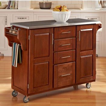 Kitchen Carts - Mix and Match Dark Cottage Oak Stained ...