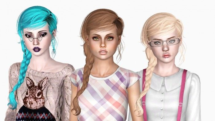 Newsea's Marshmallow hair edited by Sjoko - Sims 3 Downloads CC Caboodle