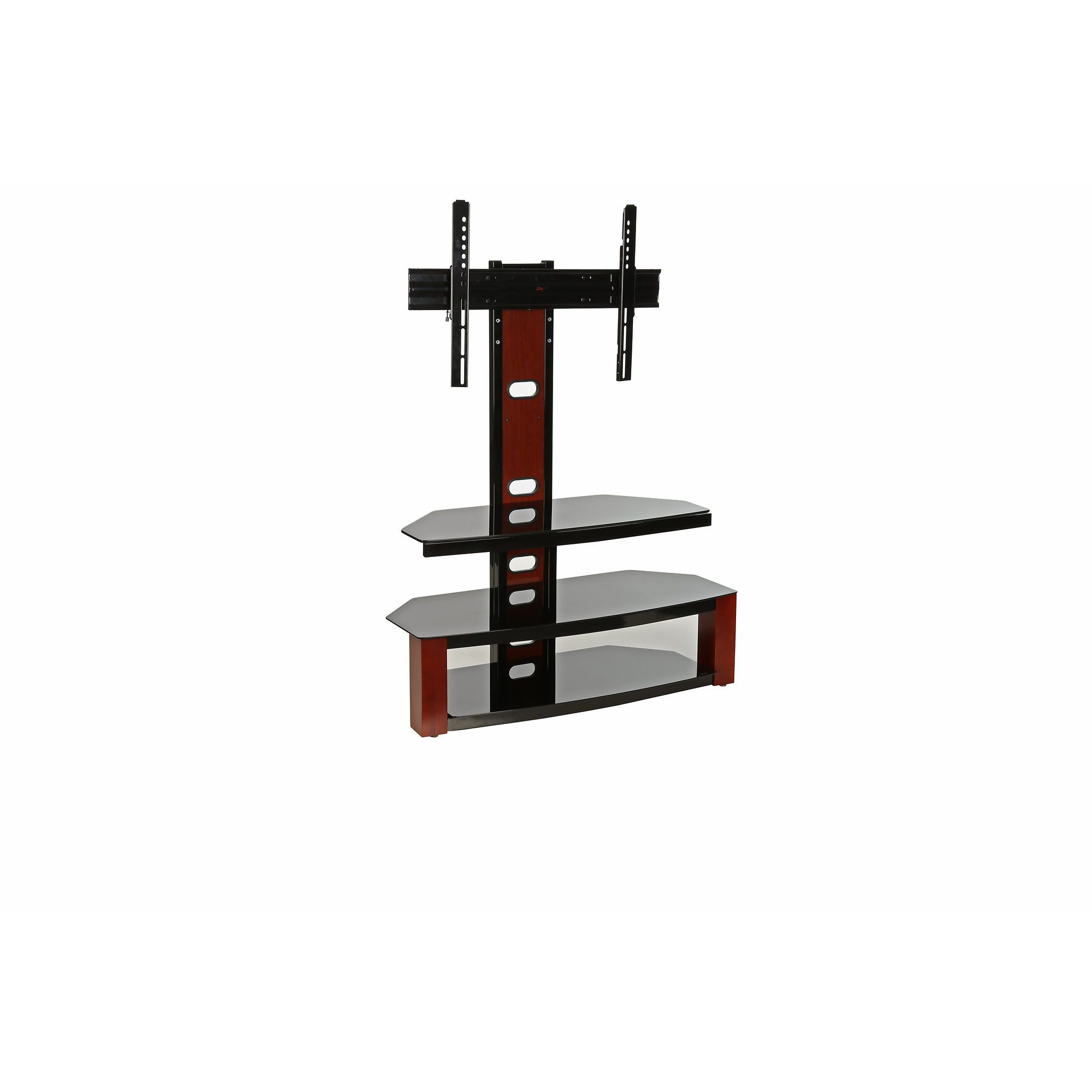 Z Line Elias Flat Panel TV Stand With Integrated Mount, Black/Cherry