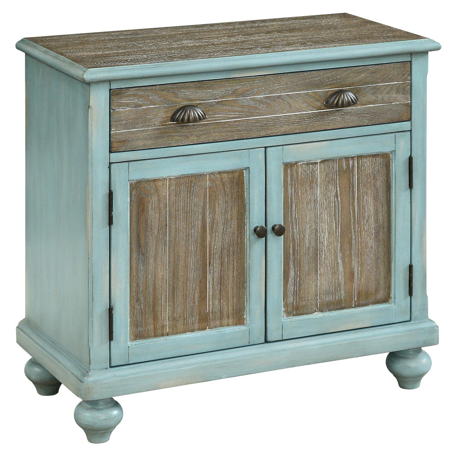 Coast To Coast Wheeland Accent Cabinet Blue Brown Accent Cabinet Brown Cabinets Cabinet