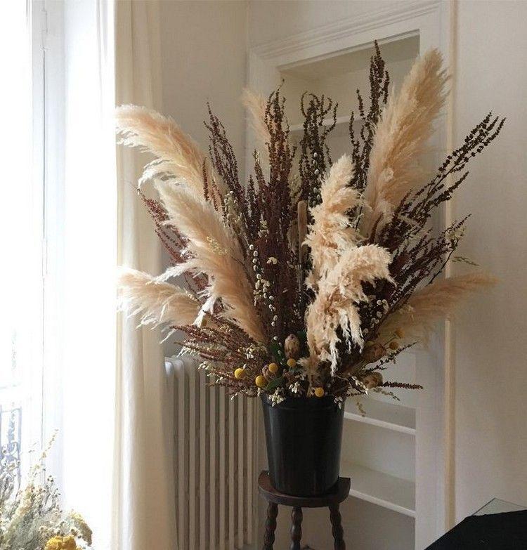 EKKONG Pampa Fleur S/éch/ées Rose 20 Pcs Herbe de La Pampas Naturel Fleurs Artificielles Deco Fausse Fleur pour Le Mariage /à La Maison H/ôtel D/écoration de La Maison