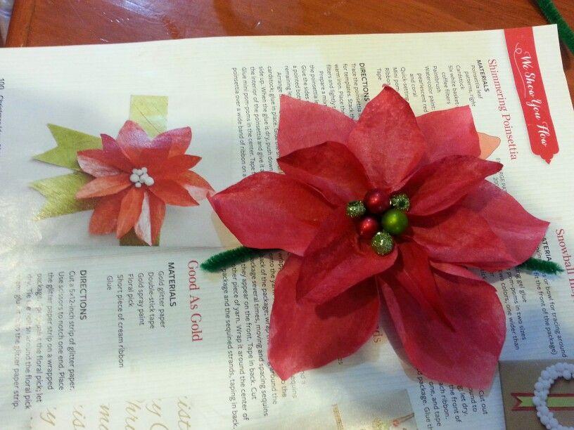 Poinsettia paper flower akbaeenw poinsettia paper flower mightylinksfo
