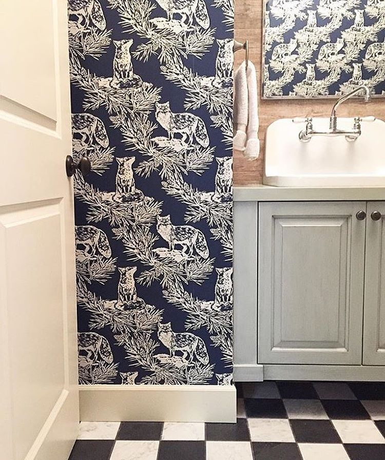 Fox In The Snow Wallpaper By Lake August A Home Designed Max Humphrey