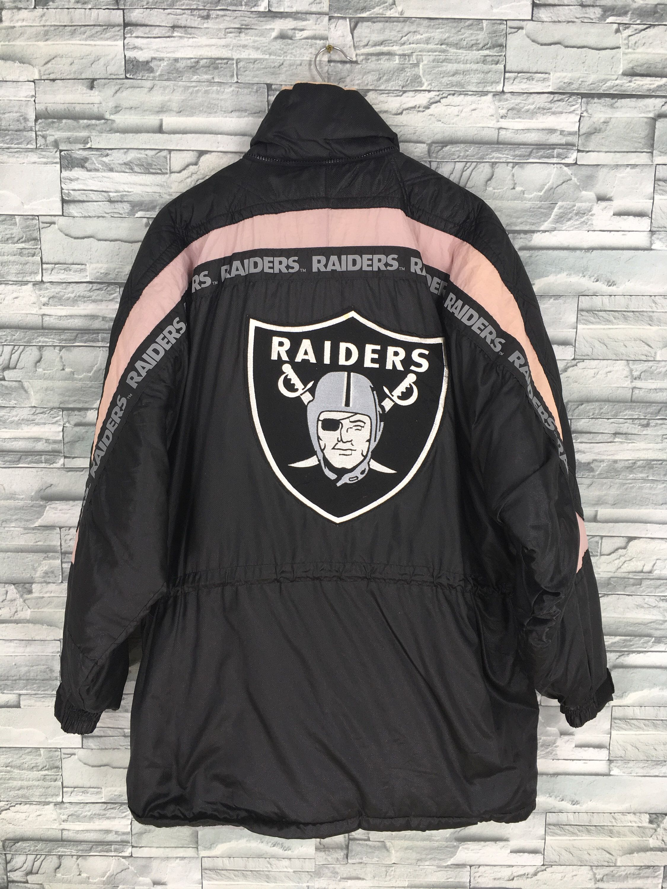 Excited To Share The Latest Addition To My Etsy Shop Oakland Raiders Parka Bomber Jacket Xlarge Vinta Cold Weather Jackets Football Jackets American Football [ 3000 x 2250 Pixel ]