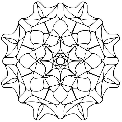 Mandala | Art therapy, Coloring pages, Art