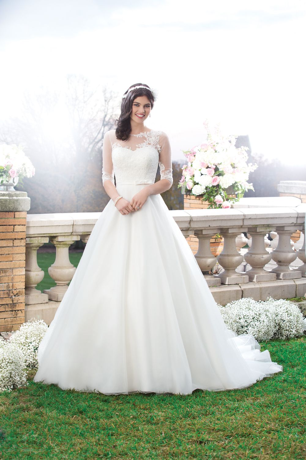 Sincerity lace overlay weddingdress perfection fairytale