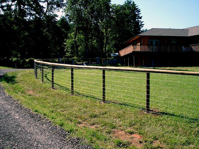 wire rail fence - Google Search | Fencing | Pinterest | Fences
