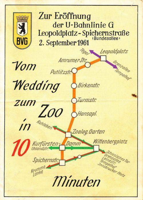 Vom Wedding Zum Zoo In 10 Minuten 1961 Berlin Transports Publics