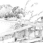 A Ralph Fournier Sketch For The Harwood Hills Neighborhood In Des Peres Missouri West Of St Louis Image Courtesy Of Ma Mid Century House St Louis Panoramic
