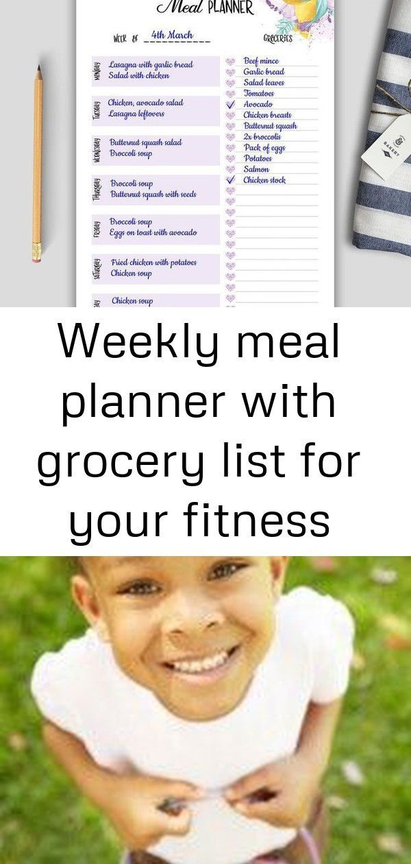 #fitness #goal #Grocery #Journal #List #Loss #meal #Planner #Weekly #Weight This weekly meal planner...