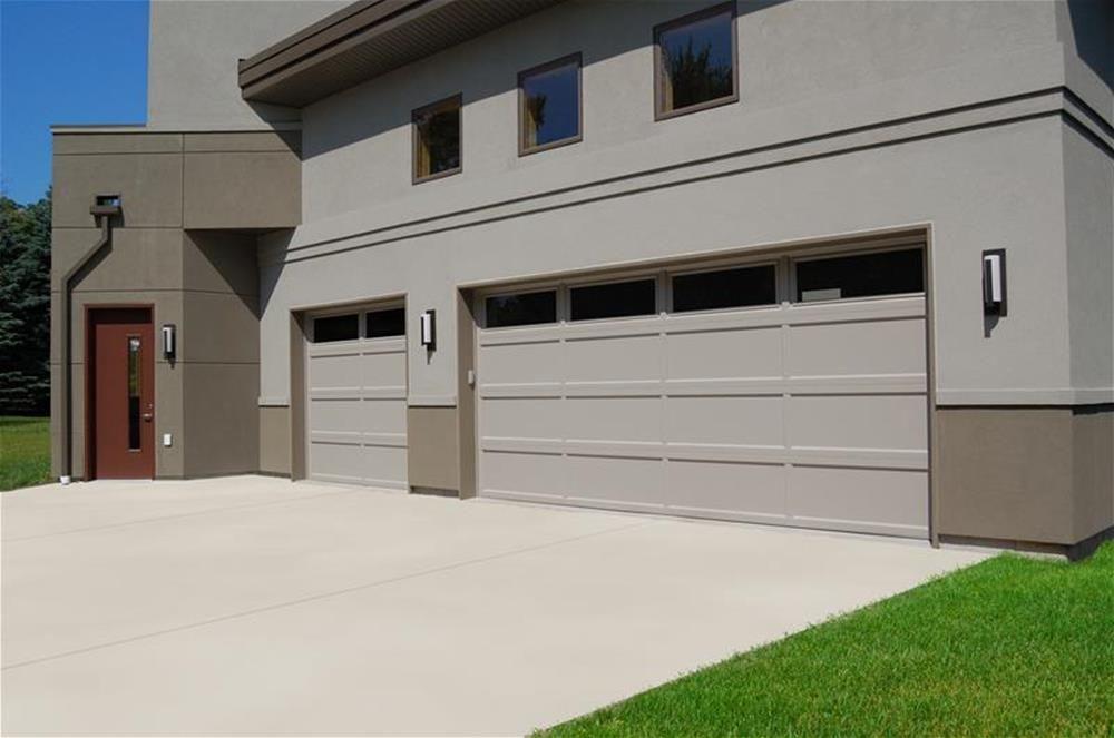 C H I Overhead Doors Model 2294 Steel Long Recessed Panel Garage