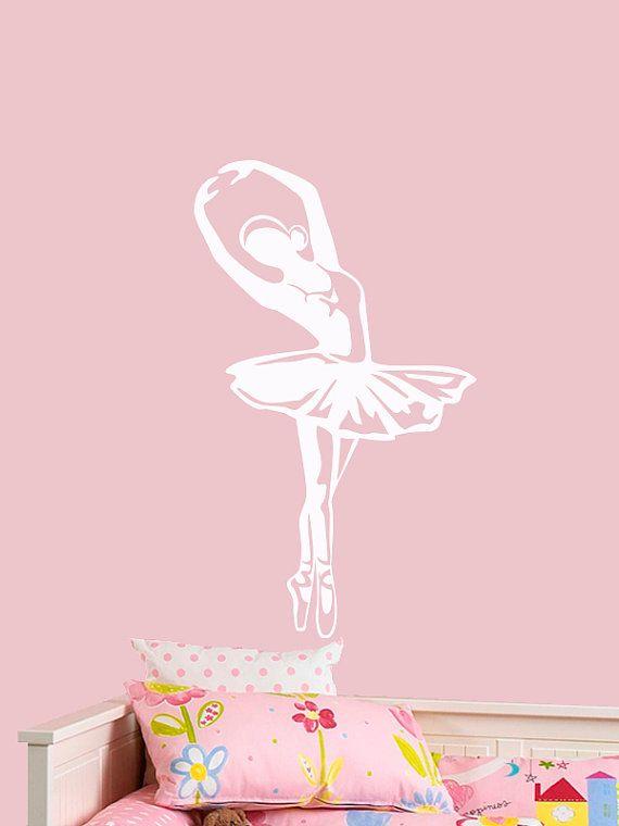 Ballerina Decal Wall Art Ballet Decals Cute Vinyl Girls Room Decor Dancer Wall Stickers 044 Wall Art Ballet Decal Wall Art Wall Vinyl Decor