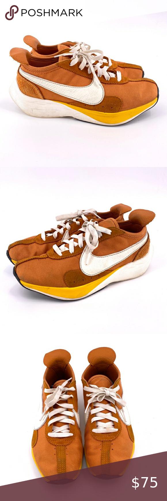 Nike Moon Racer Qs Monarch Sail Amarillo Sneakers Womens Sneakers Womens Shoes Sneakers Suede Leather