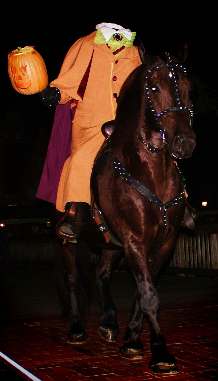 The Headless Horseman rides before Mickey's Boo to You Parade ...