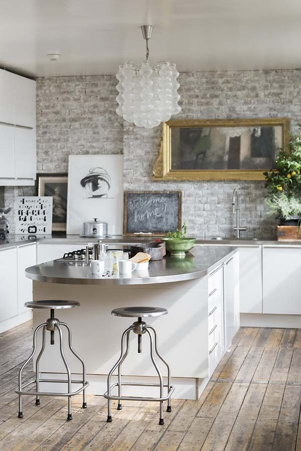 Flat Kitchen Designs: Open Plan London Flat Exhibits Fresh Industrial Design