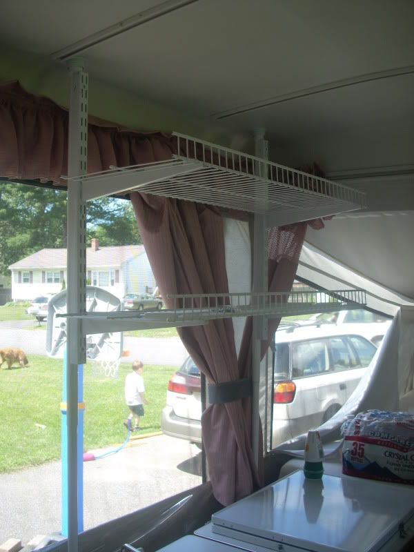 Directions On How To Build A Simple Kitchen Shelf Mod Camper Storage Pop Up Camper Popup Camper