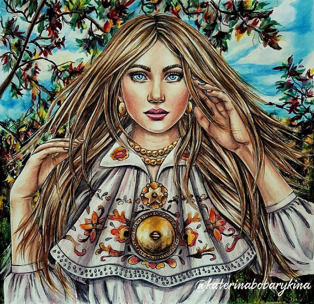 199 Likes 20 Comments Bobarykina Ekaterina Katerinabobarykina On Instagram My First Work In Coloring Book Ethno Spirit Kleurboek Kleurinspiratie Idee