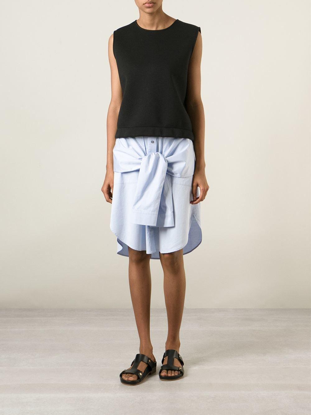 T By Alexander Wang Sleeve Ties Skirt - Ottodisanpietro - Farfetch.com 296,00 €