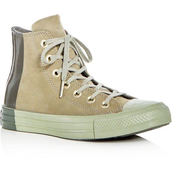 Converse Women's Chuck Taylor All Star Tonal Nubuck Leather High Top Sneakers xG08C
