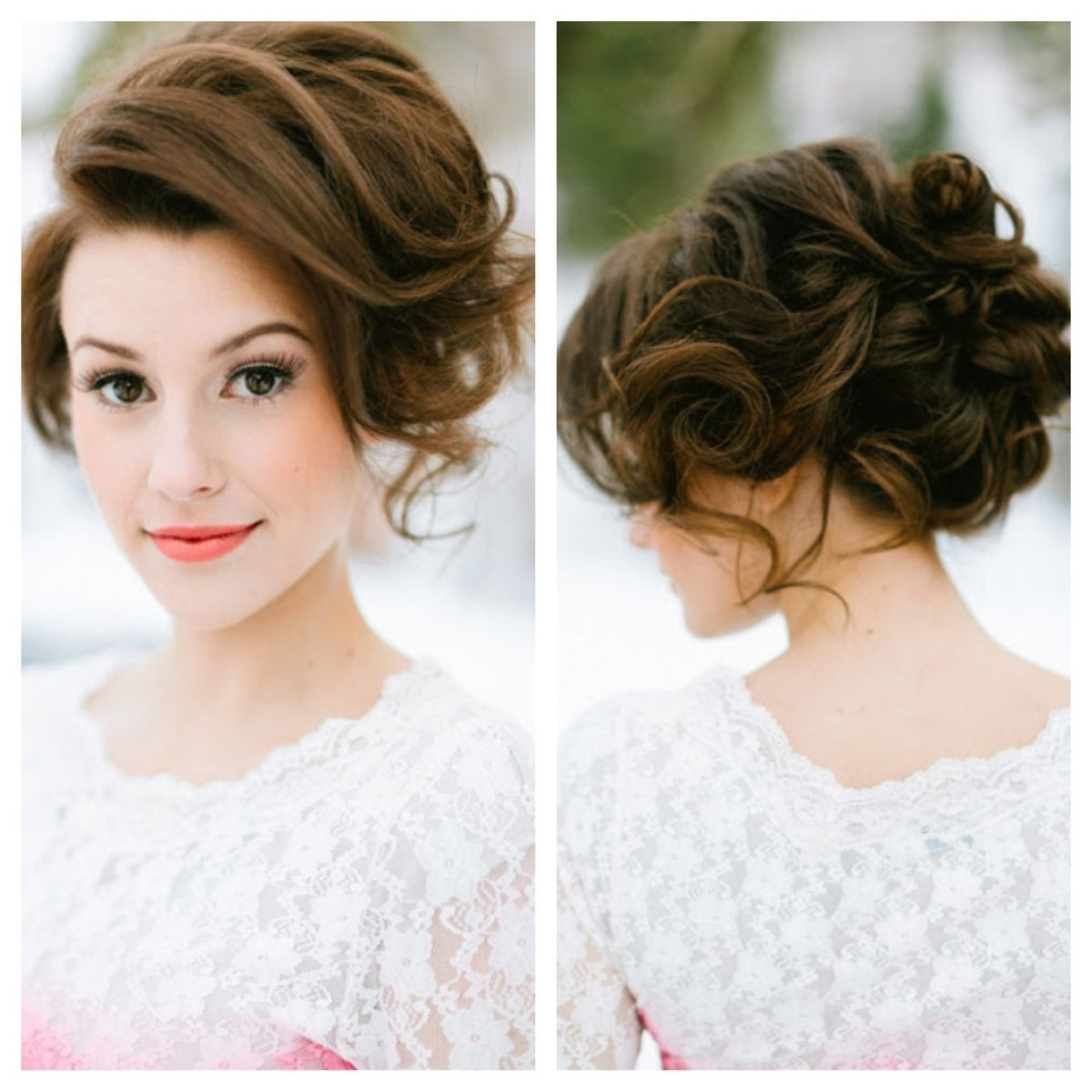 bridesmaid hair and makeup | updo on braids | wedding