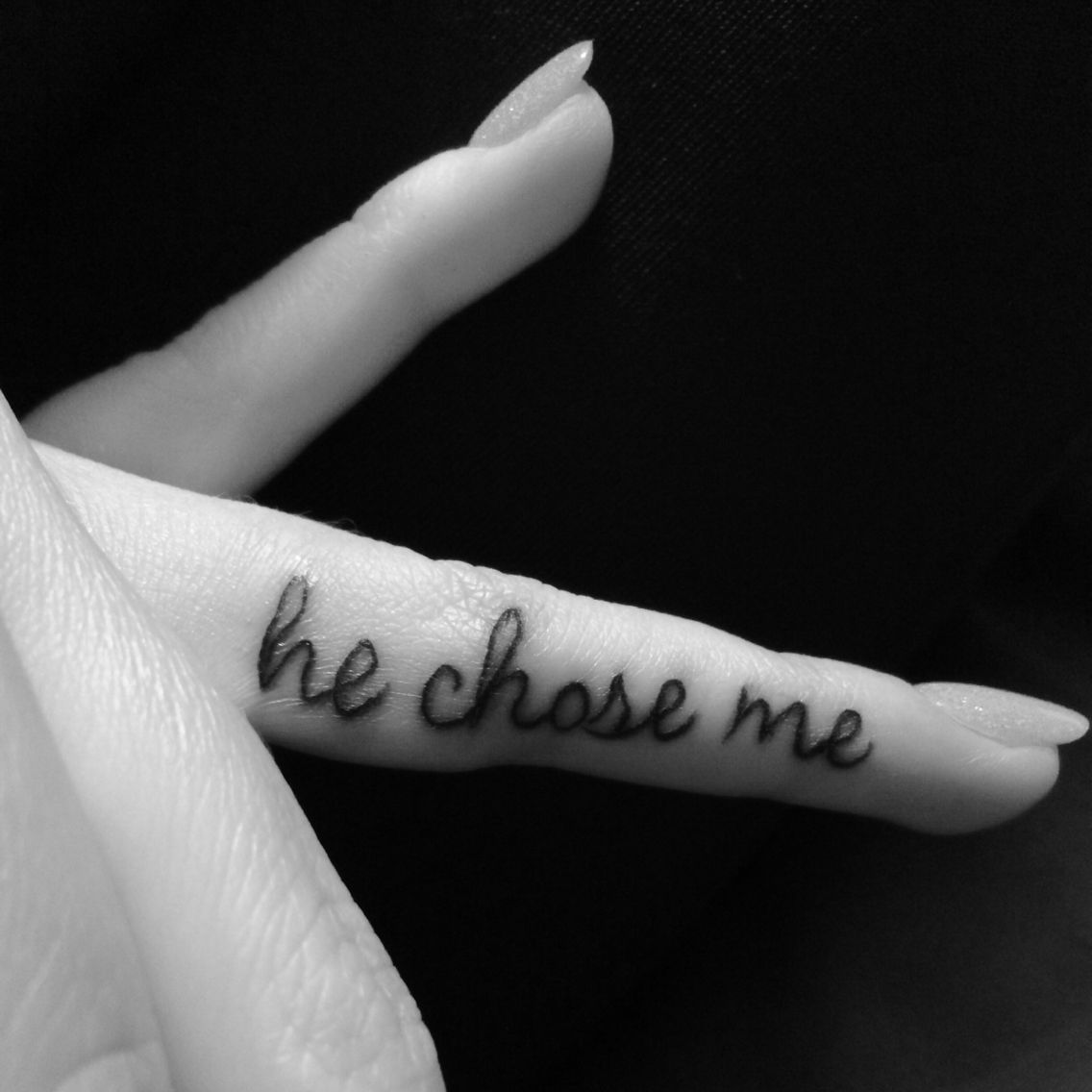 """Finger Tattoo. My husband often tells me, """"Thank you for"""