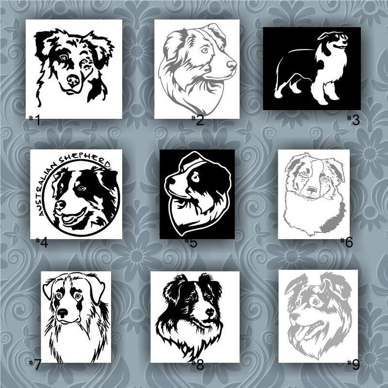 AUSTRALIAN SHEPHERD vinyl decals 19 vinyl sticker