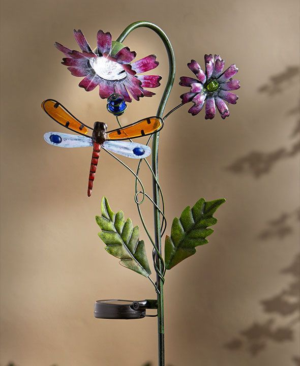 Solar flower stakes dragonfly outdoor lighting walkway path lights solar flower stakes dragonfly outdoor lighting walkway path lights unbranded mozeypictures Choice Image
