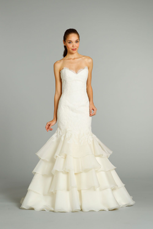 fall 2012 wedding dress Jim Hjelm bridal gowns 8255 | OneWed.com ...