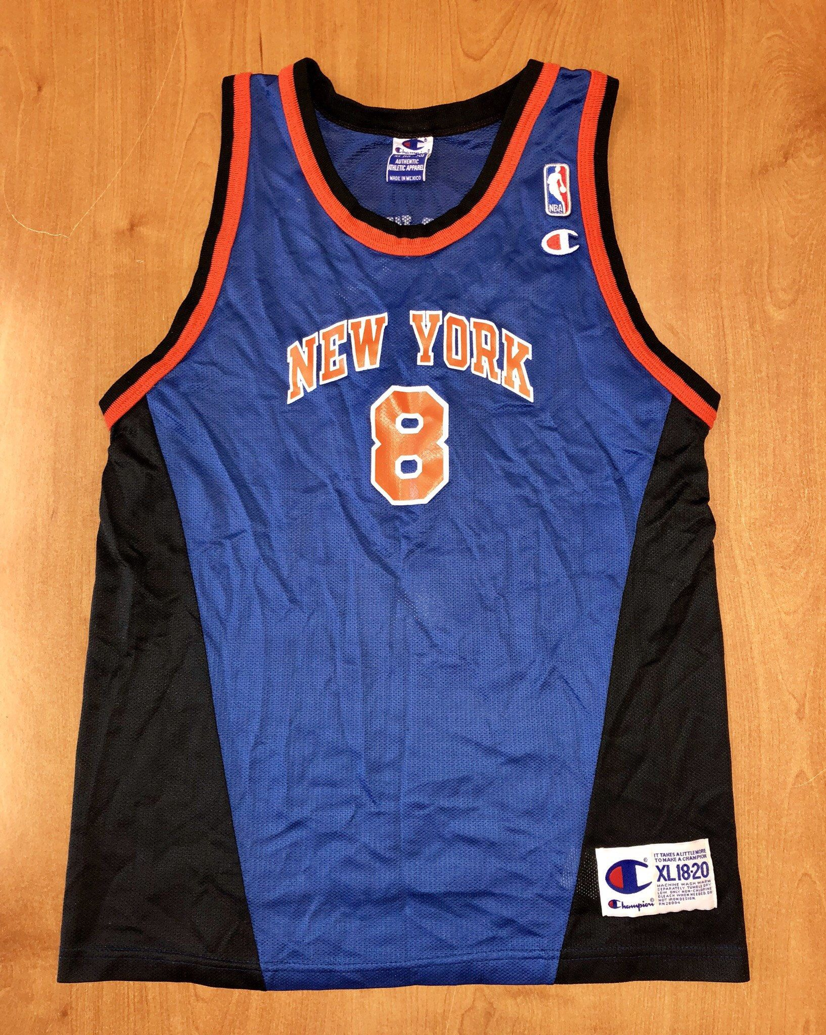 Vintage 1998 Latrell Sprewell New York Knicks Champion Jersey Size Youth XL  kids shirt charles oakley nba finals penny hardaway alabama tide by ... 37794bed2