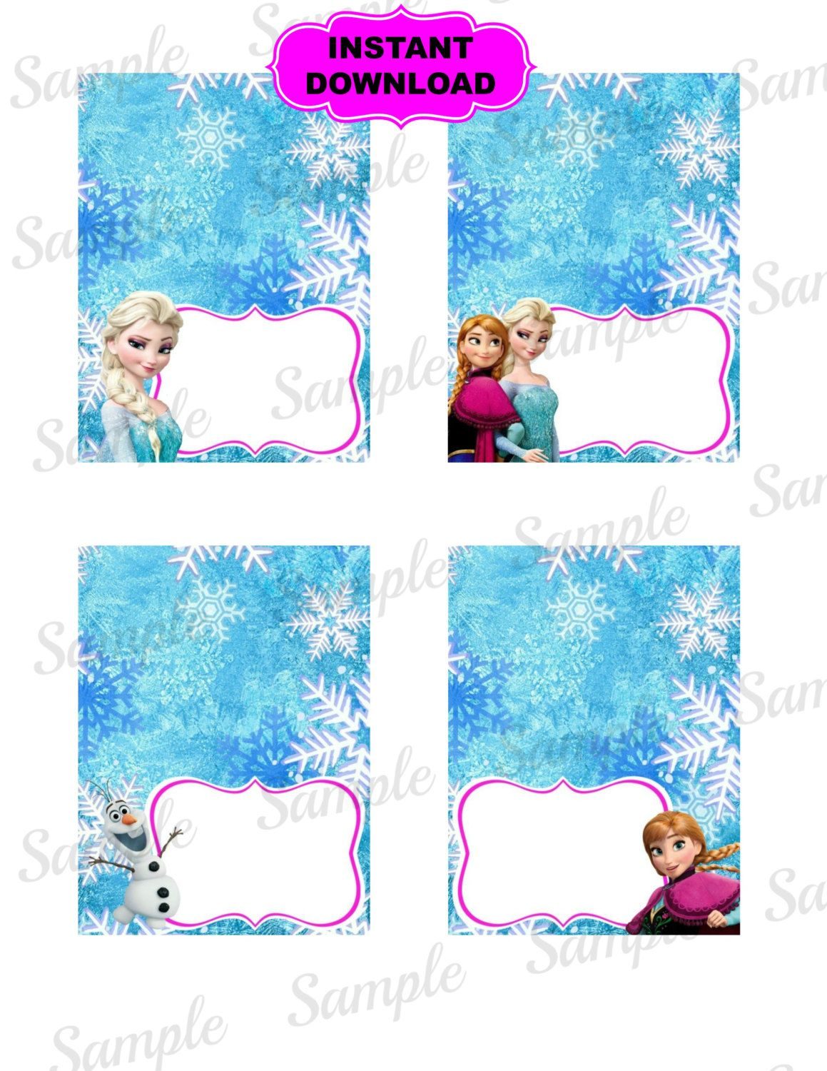 photograph regarding Frozen Food Labels Free Printable referred to as Frozen Foodstuff Tent Princess Printable Disney by means of kidspartypixel