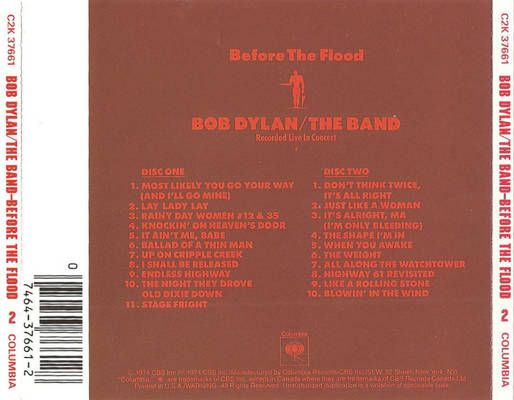 Bob Dylan And The Band Before The Flood Before The Flood Best Albums Dylan