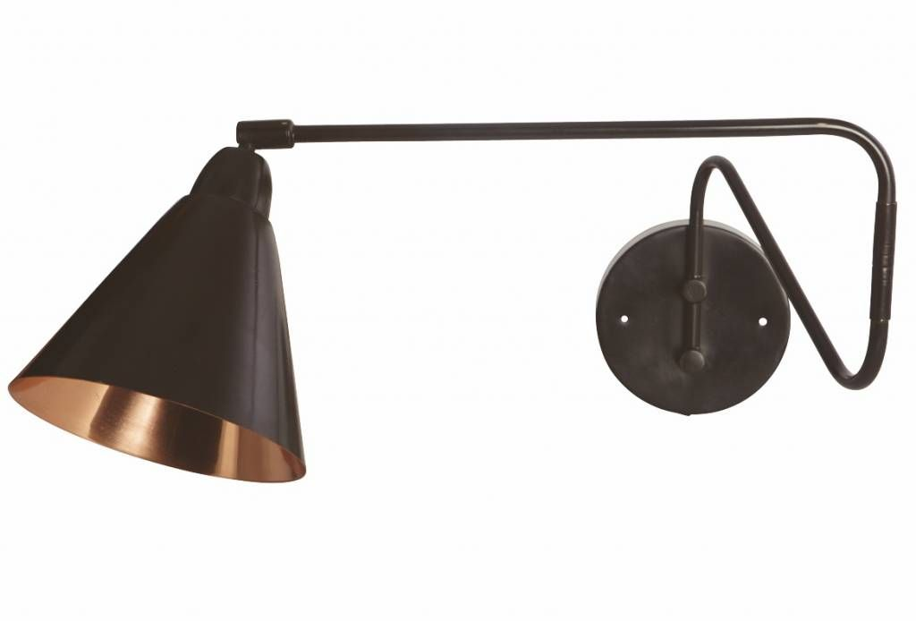 Housedoctor wandlamp zwart koper metaal Ø cm lamp game