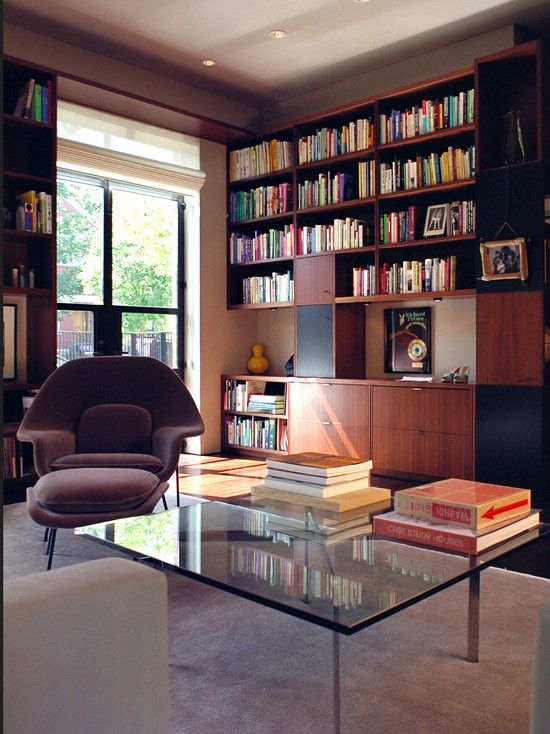 Contemporary Home Library Design: Modern Home Library Design, Pictures, Remodel, Decor And