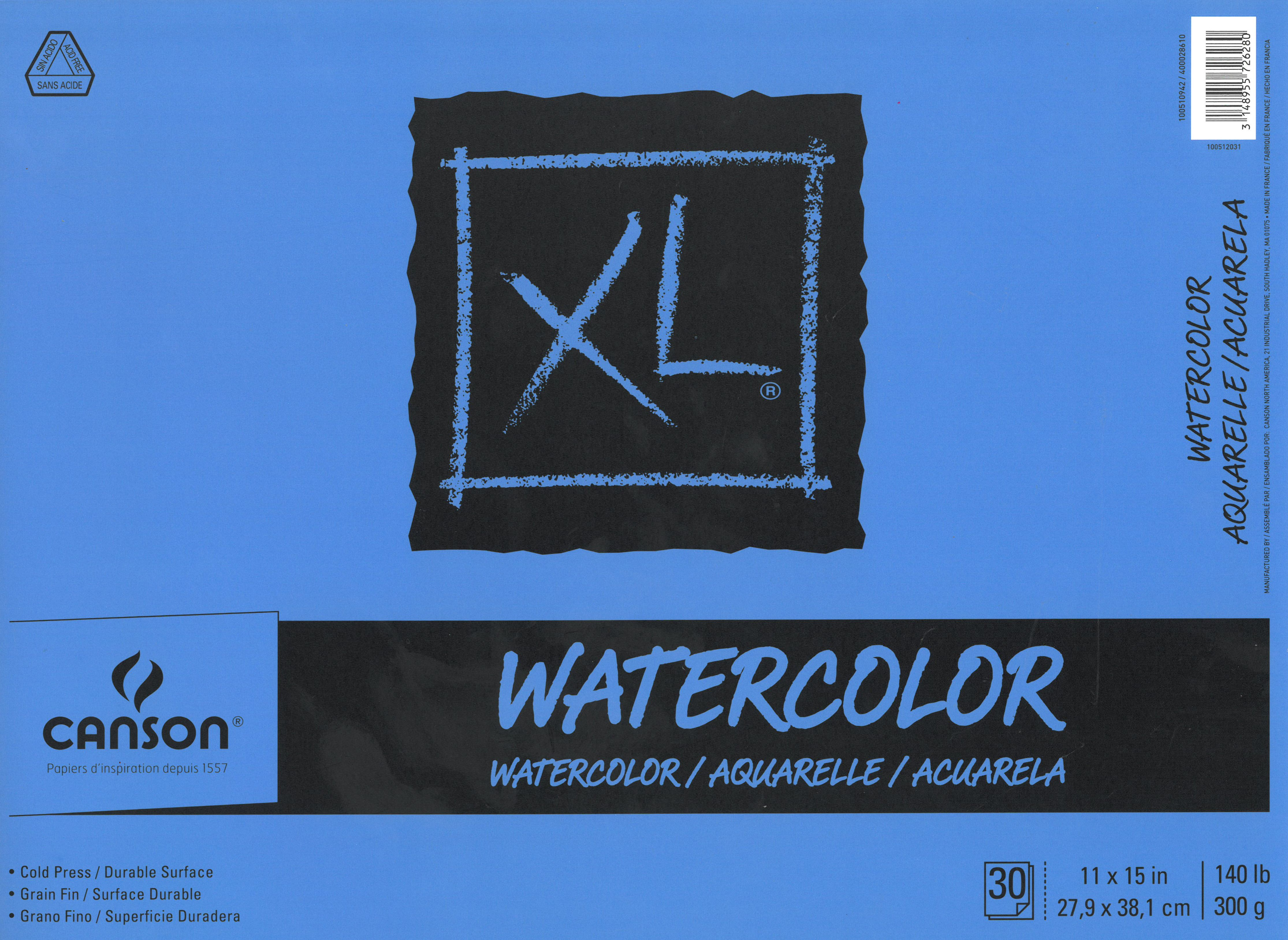 Canson Xl Watercolor Pad 11 X 15 30 Sheets With Images