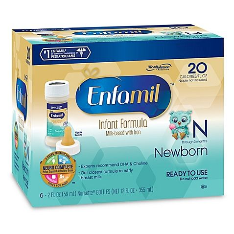 Enfamil Newborn 6 Pack Nursette Ready To Feed Formula Baby Formula Enfamil Newborn Formula Enfamil Newborn