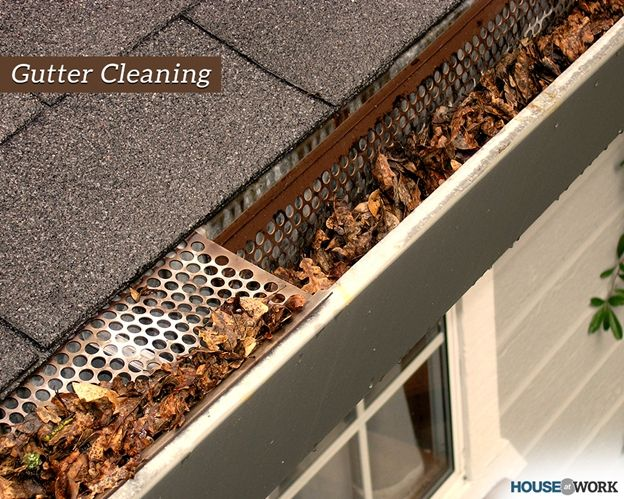 Gutters Need To Be Cleaned Regularly To Avoid Water Build Up And