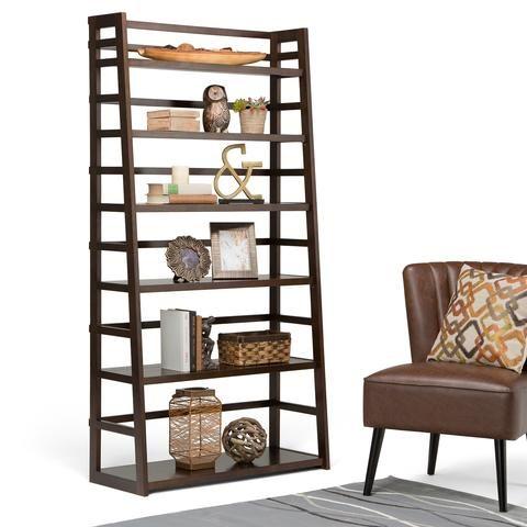 Acadian Wide Ladder Shelf Bookcase Bookcase Shelves Wall