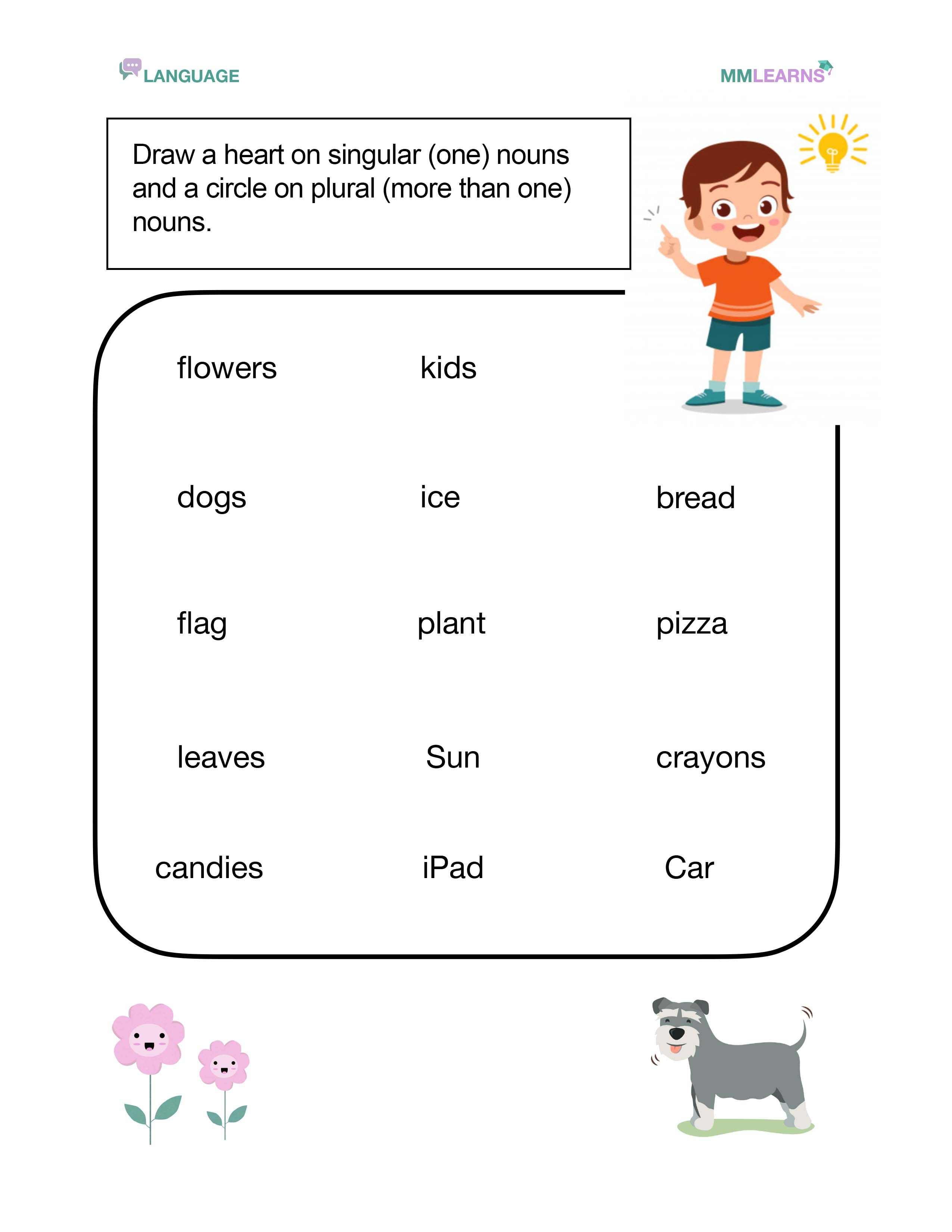 Singular Vs Plural Nouns In