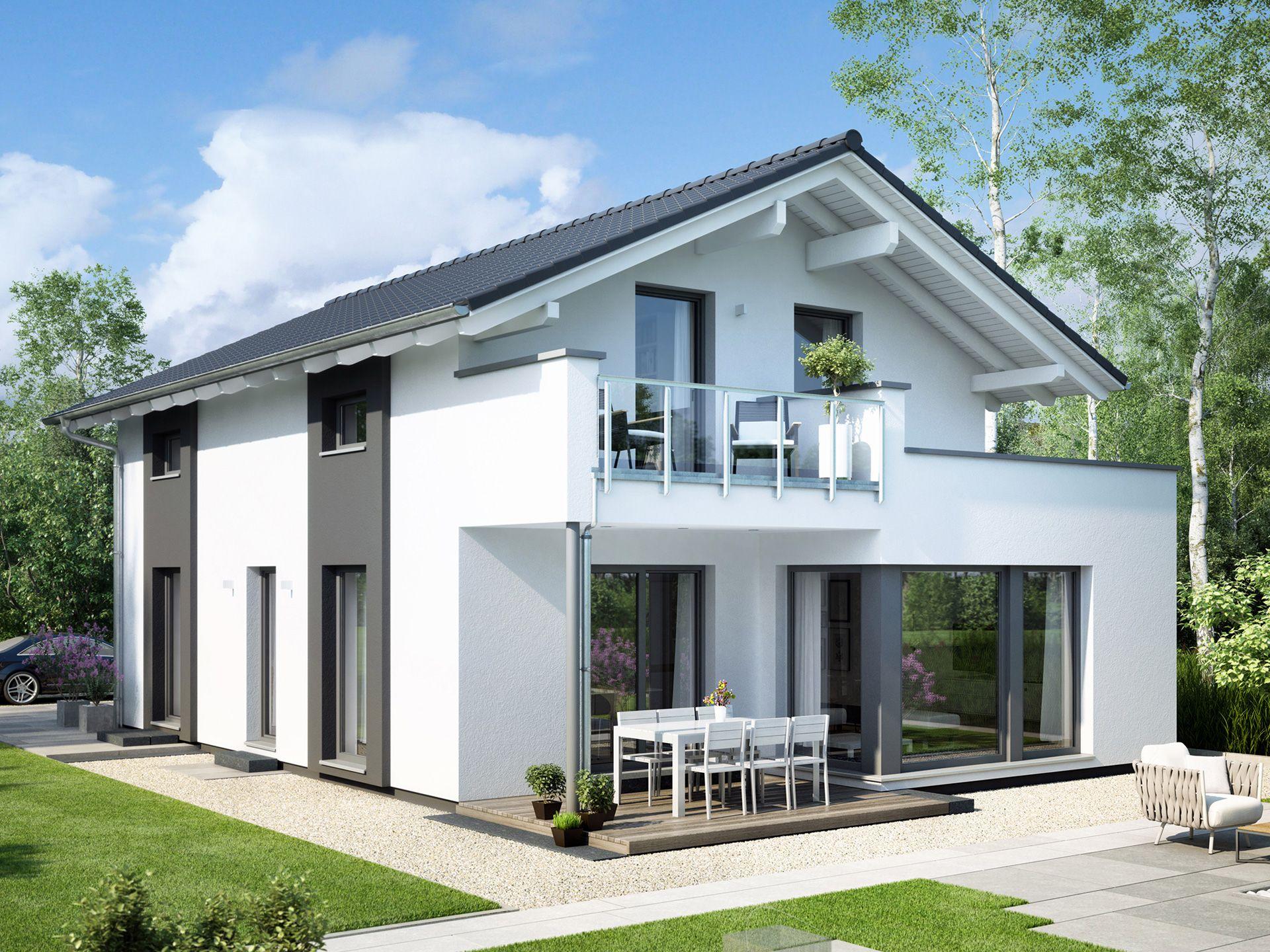 Einfamilienhaus edition 2 v3 in 2019 einfamilienhaus for Billig bauen fertighaus