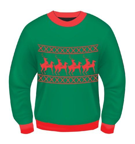 amscan Xmas Vacation Ugly Christmas Sweater for Adults