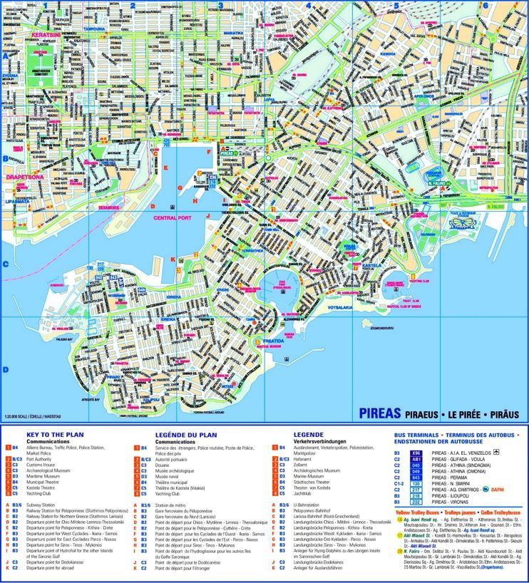 Piraeus sightseeing map Maps Pinterest City