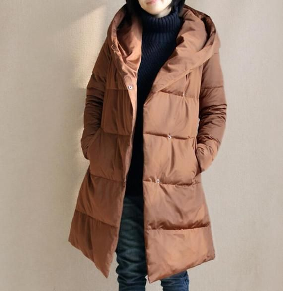 38548523b56 Size S-10XL A-Line Down Coat Winter Down Jacket Hooded Down jacket Thick