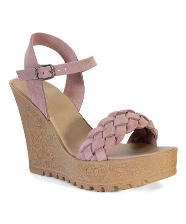 f4d4882944be  26.99 Mauve Suede Norra Wedge Sandal on  zulily!  zulilyfinds ...