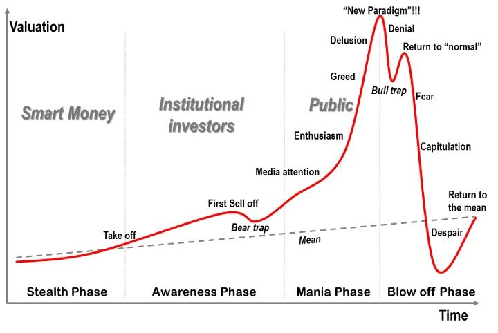 The stock market, QE and the psychology of asset bubbles - bubble chart