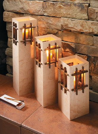 Tower Candle Stands Woodsmith Plans Furniture Plans Pinterest