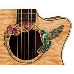 Luna Fauna Hummingbird Acoustic/Electric Folk Parlor Guitar