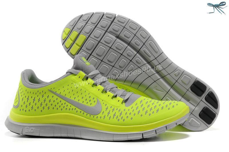 pretty nice fdf7b c7a48 Wolf Grey Electric Green Volt Mens Nike Free 3.0 V4 511457-007