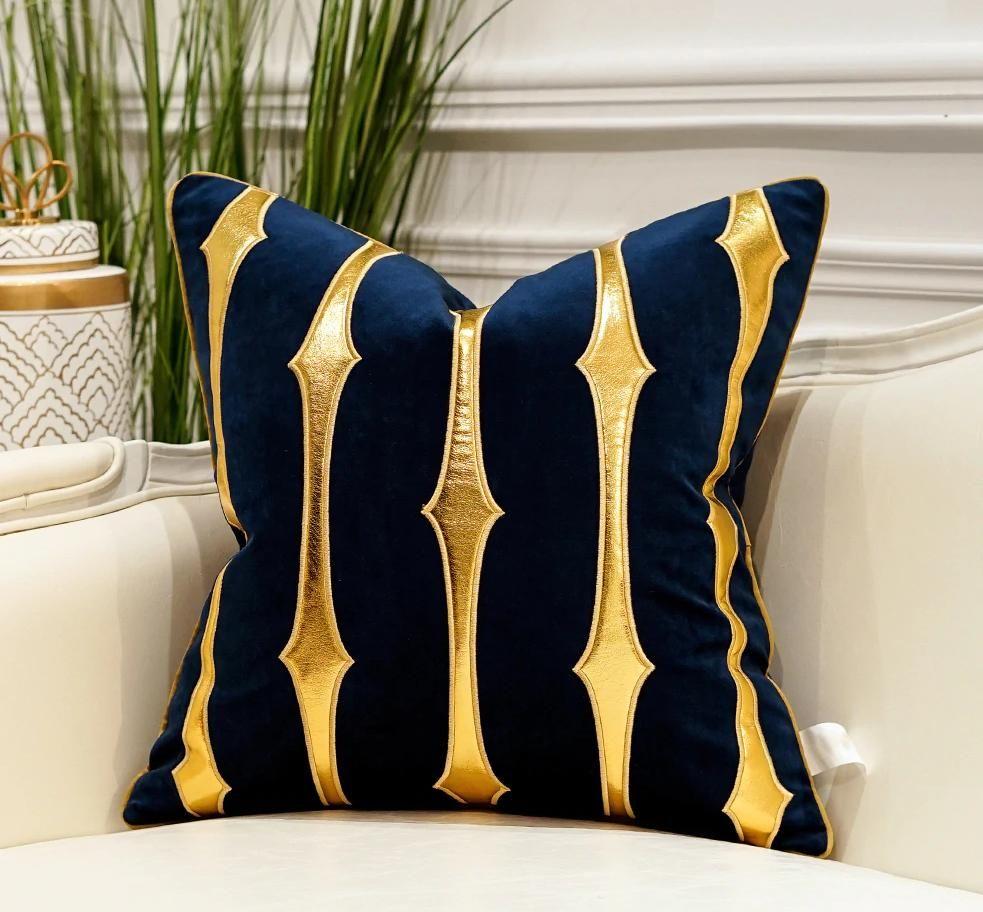 Luxury Blue Velvet Pillow Blue Pillows