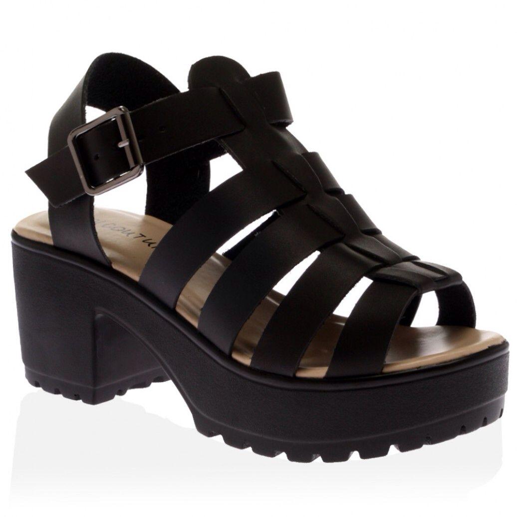 Black sandals grunge - Black Platform Sandals Public Desires 32 11